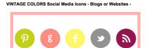 Etsy Social Media Icons