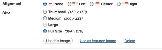 WordPress Editor Use Featured Image