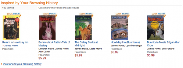 Amazon Front Page Recommendations
