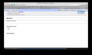 Embed Google Drive Survey
