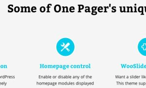 One-Pager by WooThemes