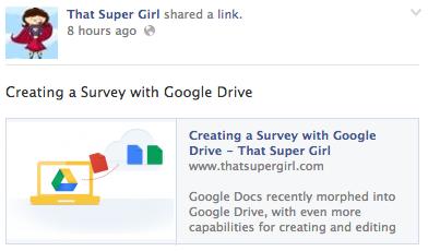 That Super Girl Facebook Post