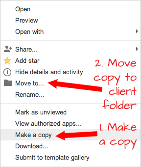 Copy and Move in Google Drive