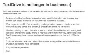 No Longer in Business