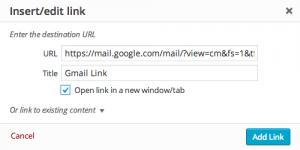 Insert Gmail Link